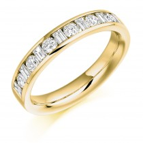 DIAMOND HALF ETERNITY RING HET909