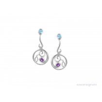 Sterling Silver Opal Fruits Drop Earrings
