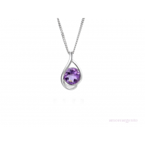 Sterling Silver 'Viola' Amethyst Necklace