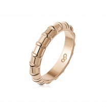 Links of London - Brutalist Caged 18kt Rose Gold Vermeil Band Ring