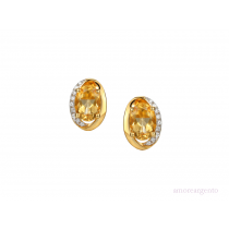 Sterling Silver & Citrine 'Clementine' Earrings