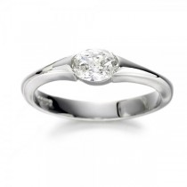 Christopher Wharton - Platinum Oval Cut Diamond Set Engagement Ring