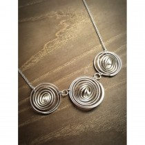 """Yulan - """"Q"""" Sterling Silver 3 Q Necklace"""