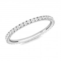 18CT WHITE GOLD AND DIAMOND MICRO-SET ETERNITY RING