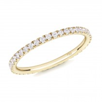 18CT YELLOW GOLD AND DIAMOND MICRO-SET ETERNITY RING