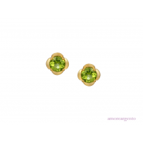Sterling Silver & Peridot 'Gelato' Earrings
