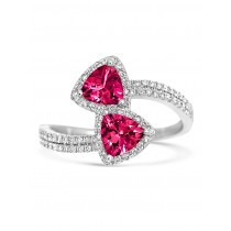 Tivon - 'Gelati' 18k White Gold Pink Tourmaline & Diamond Ring