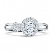 'Satellite' Platinum & Diamond Ring by Andrew Geoghegan