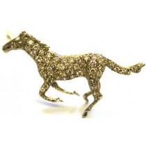 18ct White Gold & Diamond Set Horse Brooch