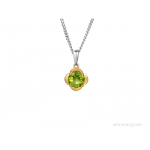 Sterling Silver & Peridot 'Gelato' Necklace