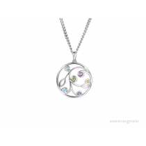 Sterling Silver Opal Fruits Necklace