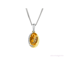 Sterling Silver & Citrine 'Clementine' Necklace